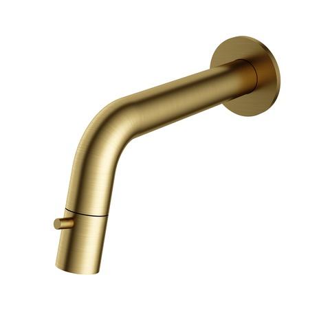 Hotbath Cobber/Dude UW001 wand fonteinkraan geborsteld messing PVD