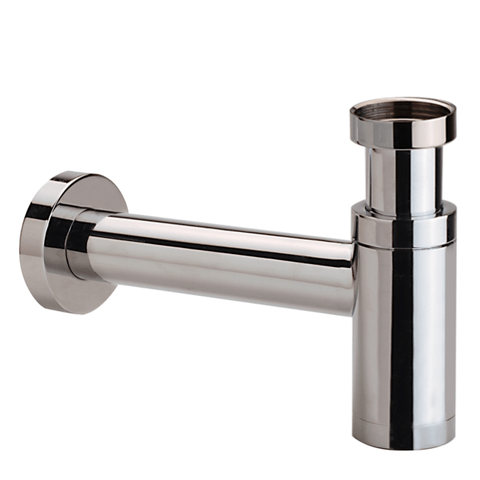 Hotbath Cobber P034 fonteinsifon rond gepolijst messing PVD