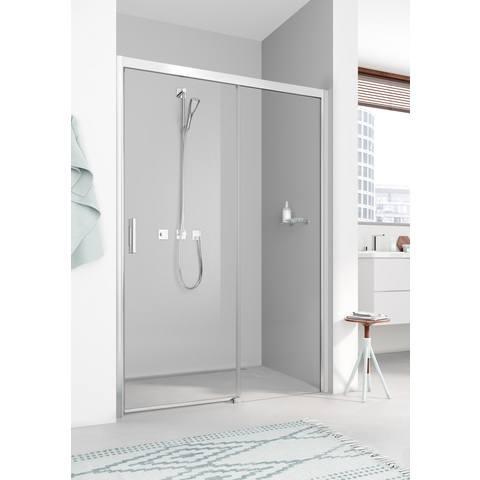 Kermi Pega deur rechts 1800x2000 glanszilver-helder