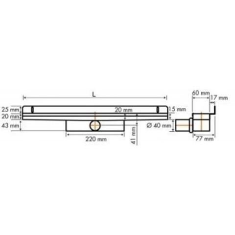 Easydrain Compact 30 Wall Zero douchegoot 120cm