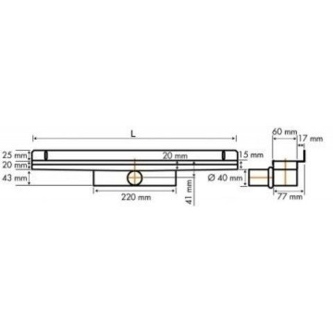 Easydrain Compact 30 Wall Zero douchegoot 80cm