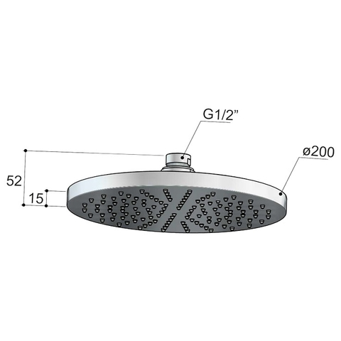 Hotbath Cobber M100 hoofddouche 20cm geborsteld koper PVD