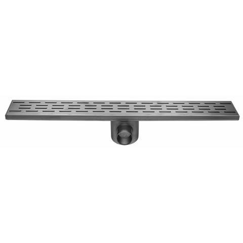 Easydrain Fixt 50 afvoergoot 9,8 x 100 cm. m/zijuitl. rvs