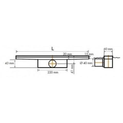 Easydrain Compact 50 FF Zero douchegoot 90cm