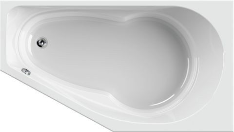 Blinq Luego spaar bad rechts 160x90cm. wit