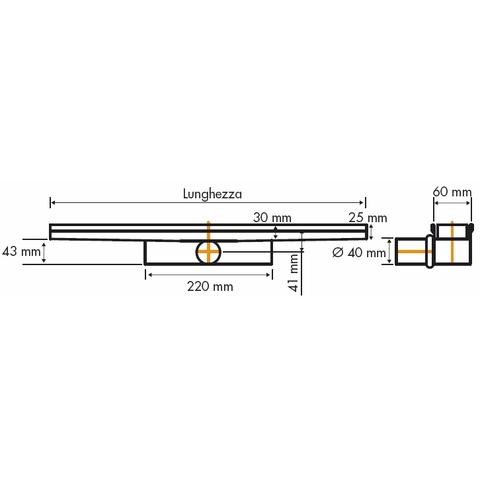 Easydrain Compact 50 Tegel douchegoot 110cm