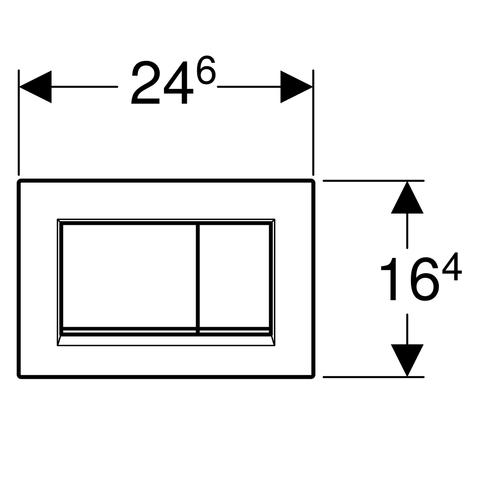 Geberit Sigma 30 bedieningsplaat mat chroom