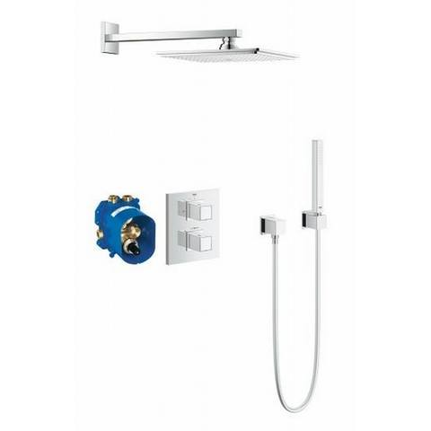 Grohe Grohtherm Cube perfect showerset inclusief Rapido T 35500 chroom