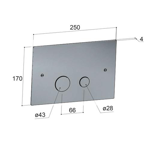 Hotbath Cobber CBA320 bedieningsplaat 2-knops mat wit