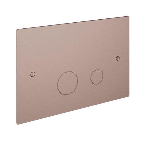 Hotbath Cobber CBA320 bedieningsplaat 2-knops geborsteld koper PVD