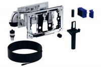 Geberit Duofresh toiletstickhouder - met geurzuivering, oriëntatielicht en automatische activering - voor Duofix 8cm - antracietgrijs RAL 7016