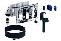 Geberit Duofresh toiletstickhouder - met geurzuivering, oriëntatielicht en automatische activering - voor Duofix 12cm - antracietgrijs RAL 7016