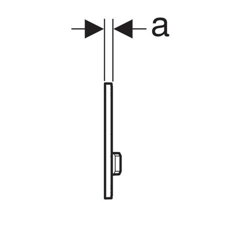 Geberit Sigma 50 bedieningsplaat umbra glas