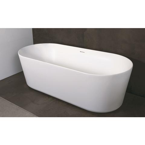 Luca Primo vrijstaand bad met dunne rand 178x80cm ovaal acryl mat wit