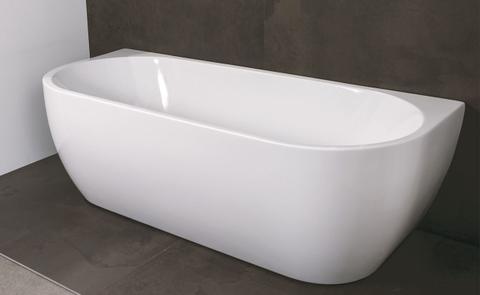 Luca Primo halfvrijstaand bad halfrond 180x80cm glans wit