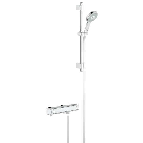 Grohe Grohtherm 2000 glijstangset met Power & Soul handdouche chroom