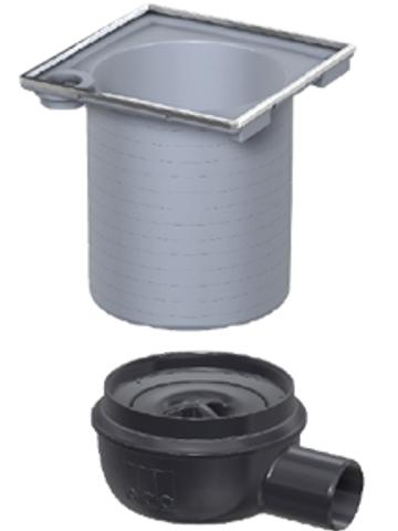 Aco Showerdrain Easyflow afvoerput horizontaal uitlaat 50mm.stankslot 50mm. grijs