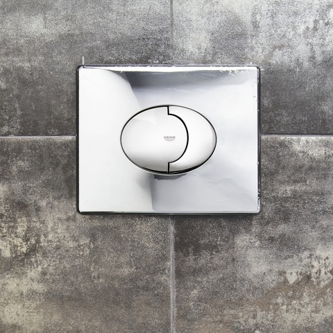 Grohe Rapid Sl bedieningsplaat sl dual flush horizontaal chroom