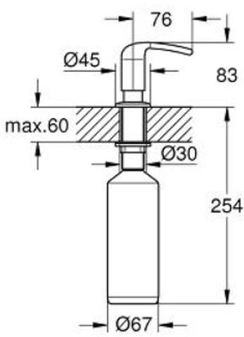 Grohe Zedra zeepdispenser 400 ml. chroom