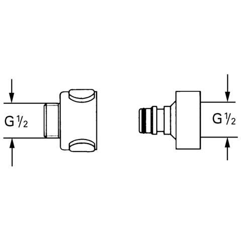 Grohe Relexa snelkoppeling