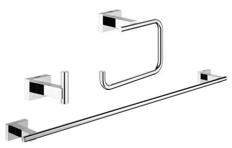 Grohe Essentials Cube accessoireset 3-in-1 (haak-handdh.-rolh.z/klep) chroom