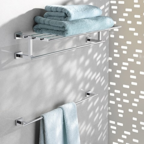 Grohe Essentials Cube handdoekplateau 60 cm. chroom