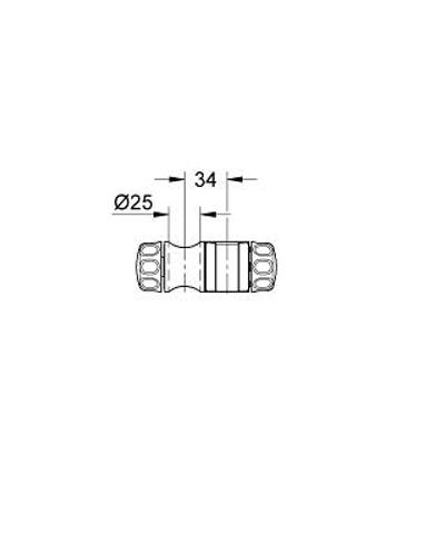 Grohe  glijstuk voor glystang t.b.v. 28666 en 28820 chroom