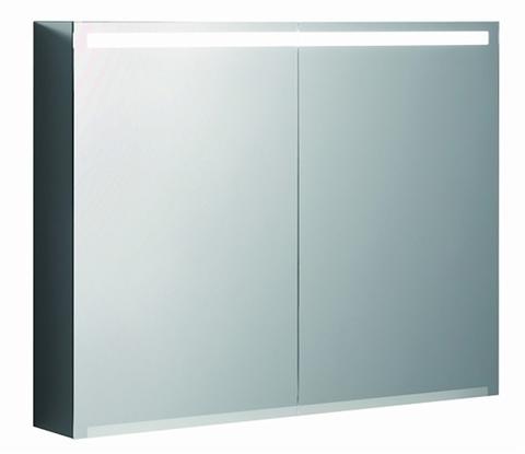 Geberit Option spiegelkast led verlichting 2 deuren 90x70x15cm