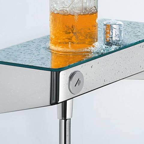Hansgrohe ShowerTablet Select s300 met raindance s e120 douchecombinatie 90 cm. wit-chroom