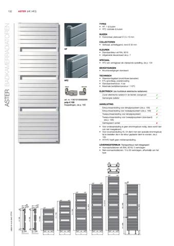 Vasco Aster Hf radiator 450x1450 mm. n21 as=1188 638w antraciet m301