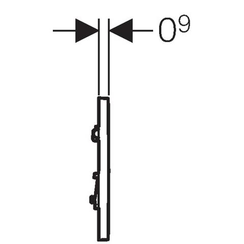 Geberit Type 30 urinoir bedieningsplaat wit-goud-wit