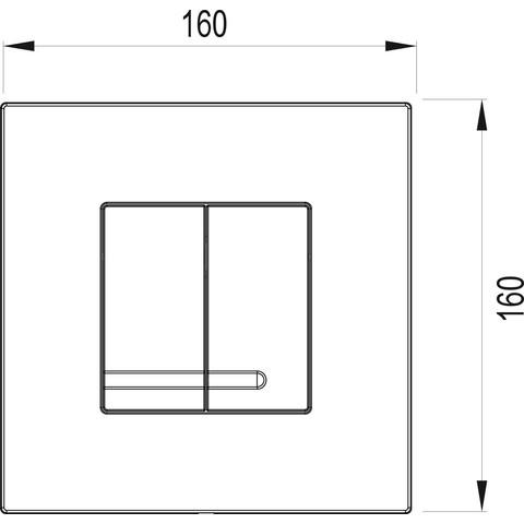 Wisa Delos afdekplaat dualflush chroom/matchroom chroom-look (glans)