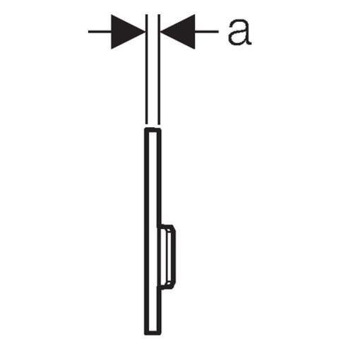 Geberit Sigma 50 urinoir bedieningsplaat pneumatisch glas umbra-aluminium