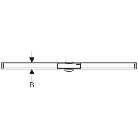 Geberit Cleanline 20 douchevloergoot 90 cm. donker-geborsteld metaal