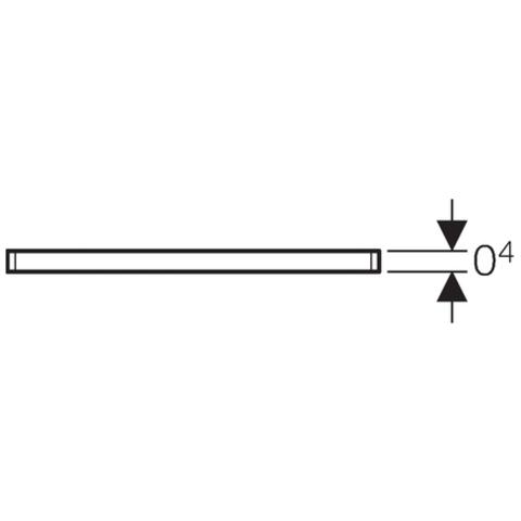 Geberit  rooster 8x8 cm. voor doucheput vierkant rvs