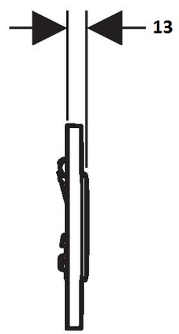 Geberit Sigma 10 urinoir bedieningsset pneumatisch chroom-matchroom-chroom