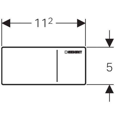 Geberit Sigma 70 afstandbediening voor inbouw reservoir 8 cm. glas wit-aluminium