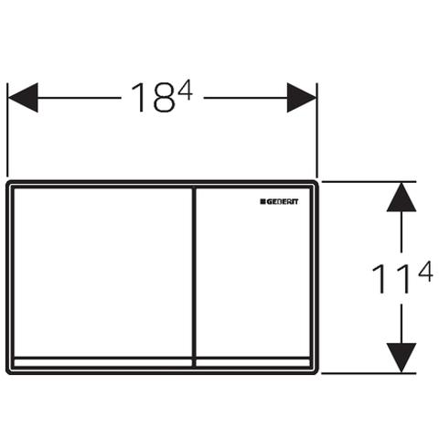 Geberit Omega 60 bedieningsplaat 2-knops frontbediening glas zwart-aluminium