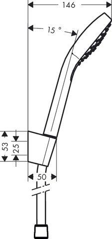 Hansgrohe Croma Select S 1jet porter badset doucheslang 160 cm. chroom