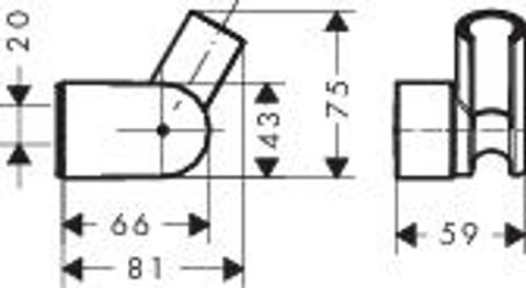 Hansgrohe Porter verstelbare wandhouder voor handdouche chroom