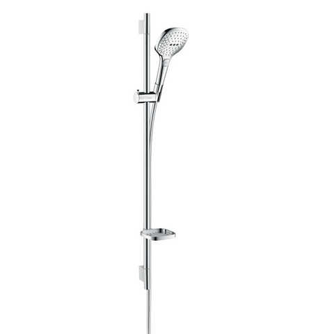Hansgrohe Raindance Select 120 ecosmart unica s puro glijstangset 90 cm. wit-chroom