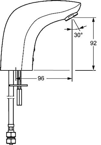 Hansa Concerto electronische wastafelkraan ir op batterijen chroom