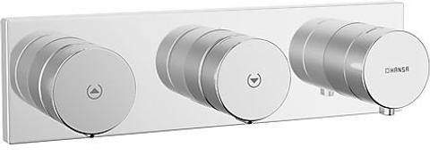 Hansa Matrix afdekset electronische thermostaat 12v 2x uitgang chroom