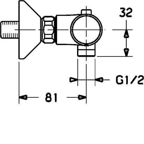 Hansa Unita douchethermostaat met s-koppelingen chroom
