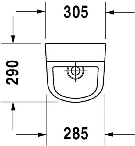 Duravit D-Code urinoir toevoer achter / met sifon en bevestiging wit