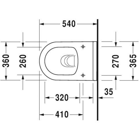 Duravit Starck 3 wandcloset diepspoel m/durafix bev. rimless wit