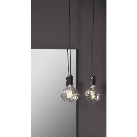 Blinq Tutto hanglamp e27 met schakelaar zonder lamp zwart
