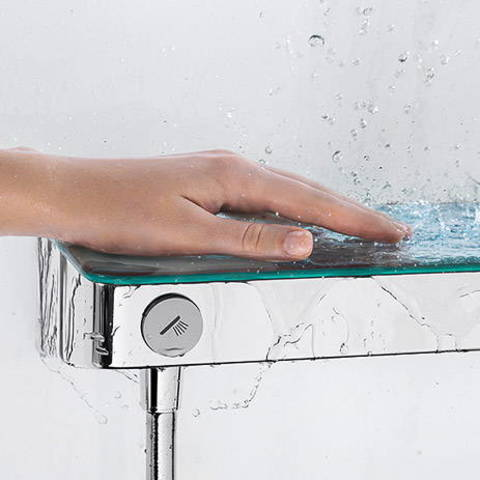 Hansgrohe ShowerTablet Select 300 douchethermostaat 15 cm. wit-chroom
