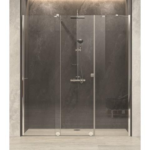 Blinq Tutto nis schuifdeur vast segm+zijd,180-200x200 bev.li. hoogglans-spiegelglas