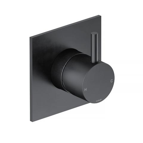 Hotbath Cobber CB031Q afbouwdeel douche mengkraan mat zwart